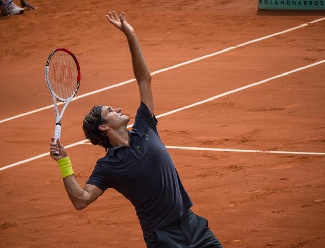 Roger Federer at Roland Garrosm
