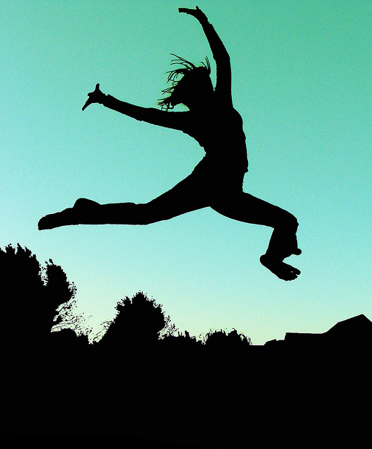 One lady leapingjpg