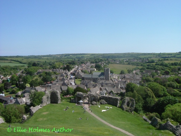 Corfe Village from Castle grounds - Ellie Holmes Author
