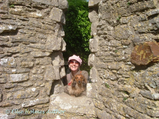 Sasha and I at Corfe Castle - Ellie Holmes Author