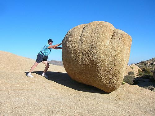 pushing-a-boulder